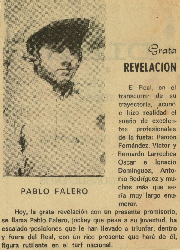 Año 1984, Pablo Falero ya llamaba la atención en Maroñas y en la prensa coloniense.